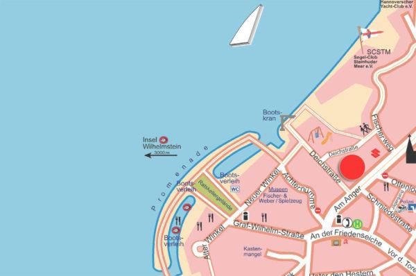 Lage Am Anger Ferienwohnung Steinhuder Meer